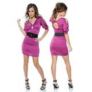 MINI VESTIDO BUTTON BEAUTY PURPLE
