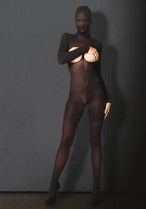 CATSUIT KINK HOODED OPAQUE