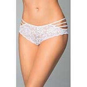 SHORTY RENDA TIRAS BRANCO