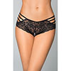 SHORTY RENDA TIRAS PRETO
